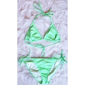 Victoria's Secret Neon Green Bikini Bathing Suit